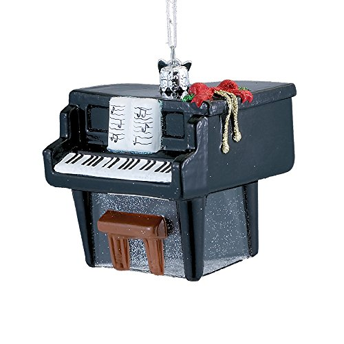 Kurt Adler 3-inch Noble Gems Glass Piano Ornament