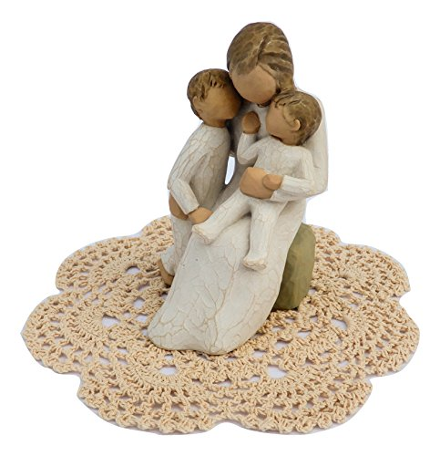 Willow Tree Family Themed Figurine with Westbraid Doily (Quietly)