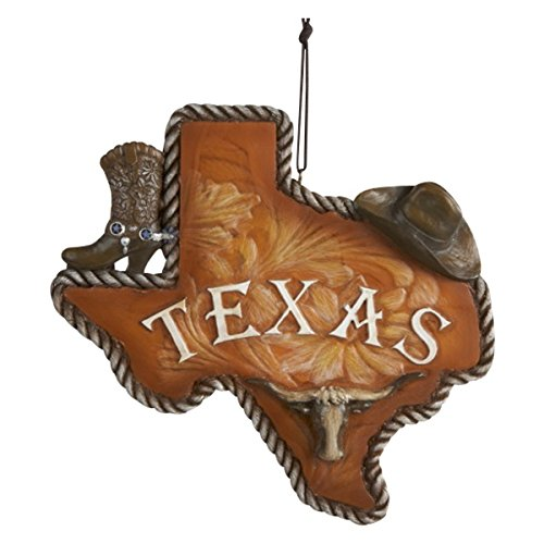 "Kurt Adler Resin ""TEXAS"" Ornament"