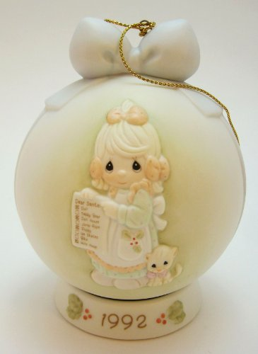 Precious Moments But The Greatest Of These Is Love 1992 Dated Ball Ornament 527734