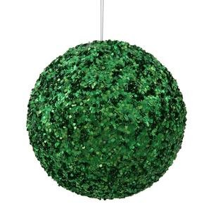 Vickerman 6″ Green Sparkle Sequin Ball Ornament
