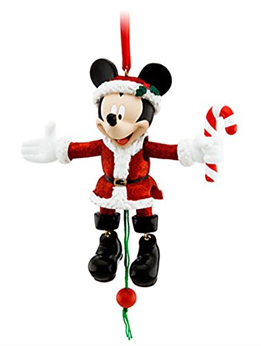 DISNEY PARKS EXCLUSIVE : Santa Mickey Christmas Hanging Ornament : Movable Arms & Legs