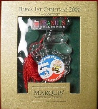 Waterford Crystal PEANUTS 50TH ANNIVERSARY Collector's Ornament (Baby's First Christmas)