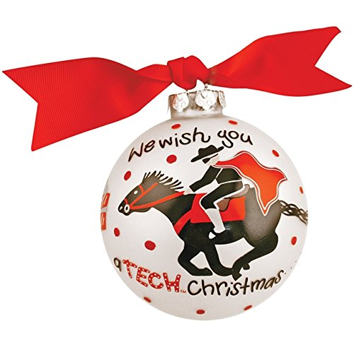 Coton Colors Texas Tech Wish Glass Ornament