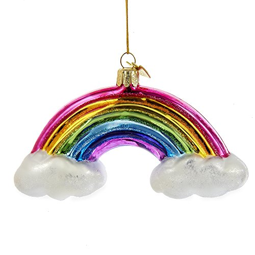 Kurt Adler 4.75″ Noble Gems Glass Rainbow Ornament