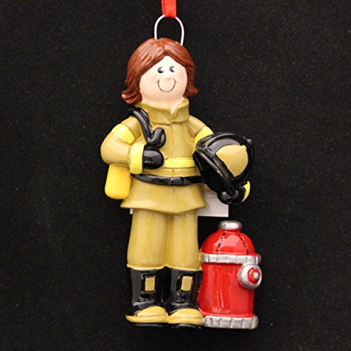 Female Firefighter Ornament