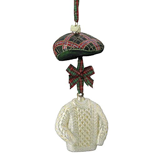 Kurt Adler 2.75″-3″ Noble Gems Irish Hat and Sweater Ornament