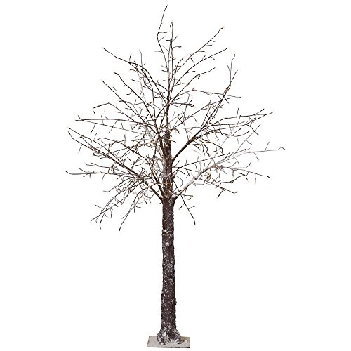 8 ft. Pre-Lit LED Snowy Brown Artificial Christmas Tree