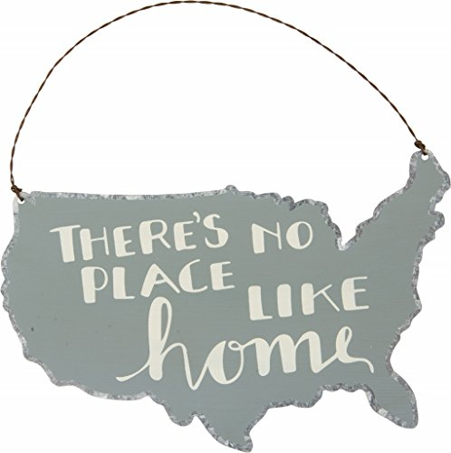 Primitives by Kathy There's No Place Like Home USA Small Hanging Sign Ornament 4.5 x 8