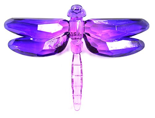 Crystal Expressions Acrylic 4×6 2 Tone Inch Dragonfly Ornament/ Sun-Catcher (Purple)