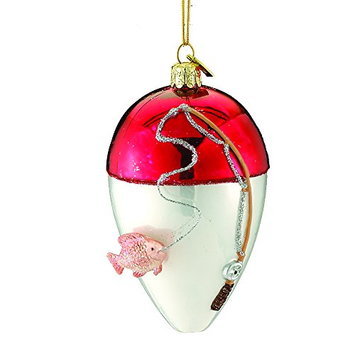 Kurt Adler 4″ Noble Gems Glass Lure Ornament