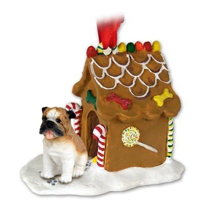 Conversation Concepts Bulldog Ginger Bread House Ornament