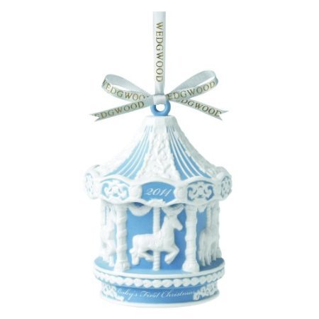 Wedgwood 2014 Baby's First Carousel Ornament, Blue