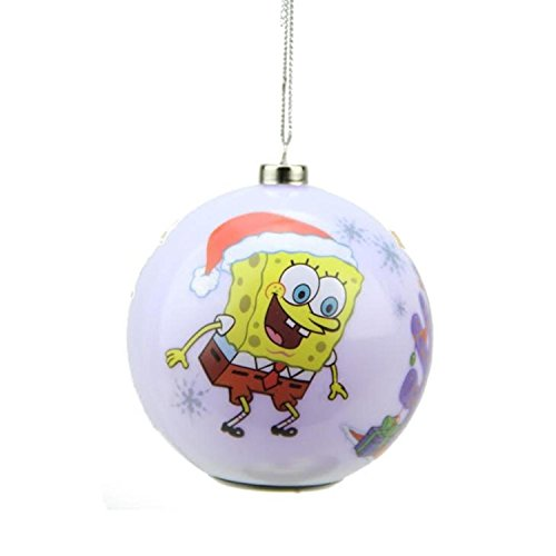 3.25″ Carlton Cards Heirloom Multi Color LED SpongeBob SquarePants Christmas Ball Ornament