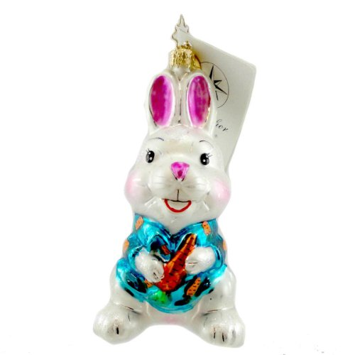Christopher Radko 4.5″ Chester Easter Bunny Ornament