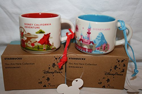 You Are Here Starbucks Disneyland mug ornament + BONUS Disneyland souvenir card (Ornament)