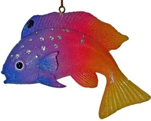 December Diamonds Aquatic Collection Fairy Basslet Christmas Ornament -Valuable Discontinued Limited Edition Aquatic Ornament embellished with Rhinestones!!!Discontinued & will Never be produced again!!!!!