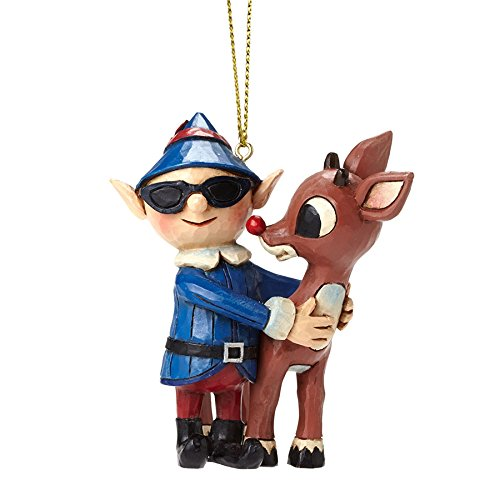 Rudolph Traditions by Jim Shore, Rudolph w/Elf in SunglassesOrn