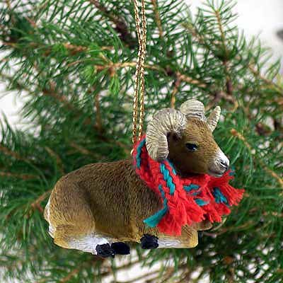 1 X Big Horn Sheep Ornament