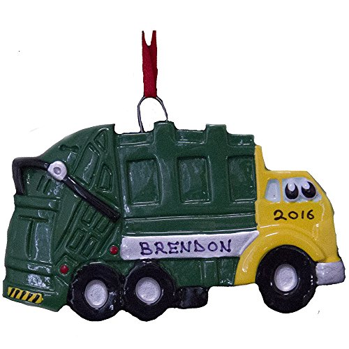 Personalized Garbage Truck Ornament-Free Personalization