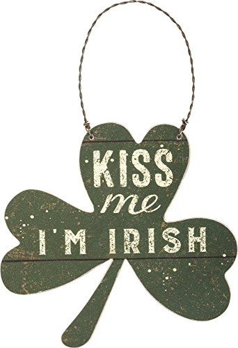 Primitives by Kathy Small Kiss Me I'm Irish Sign 4.5″ x 4.25″