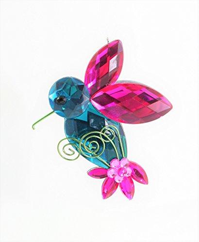 Ganz Crystal Expressions Acrylic Jewel Hummingbird Hanging Ornament (Design 1)