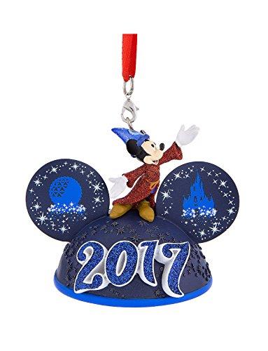 Walt Disney World Parks Icon Sorcerer Mickey Mouse 2017 Ears Hat Light Up Ornament