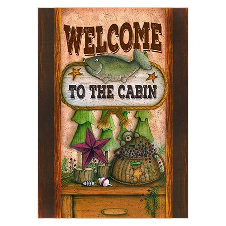 Welcome to the Cabin Outdoor Garden Mini Yard Decoration Flag 13″ x 18.5″