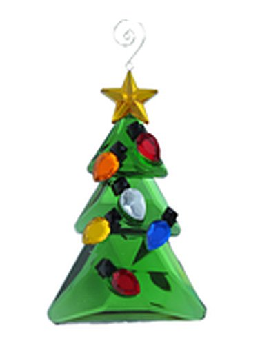 Ornament Decorated Faux Crystal Christmas Tree Ornament – By Ganz