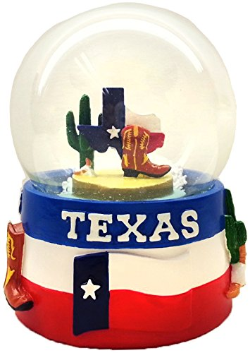 Great State of Texas 45mm Snowglobe featuring the Texas Flag and Texas icons