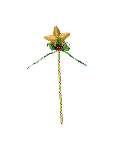 12″ Mary Engelbreit Candy Cane Lollipop with Gold Glittered Star Christmas Ornament