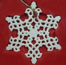 Lenox 2003 Snow Fantasies Christmas Snowflake Ornament New