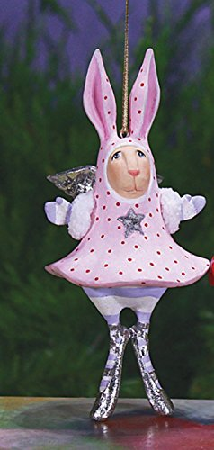 5.5″ Patience Brewster Krinkles Pandora Bunny Decorative Christmas Figure Ornament
