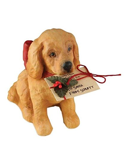 Christmas CHRISTMAS PUPPY Polyresin Best Friend Dog Td5087