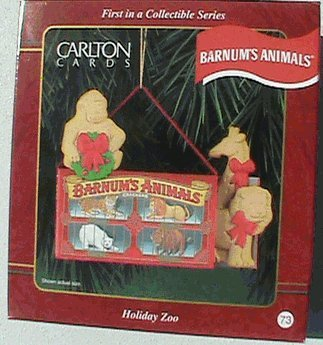 Carlton Heirloom Ornament Barnum's Animals 'Holiday Zoo' – 1997