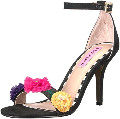 Betsey Johnson Women's Raz Dress Sandal, Black, 9.5 M US