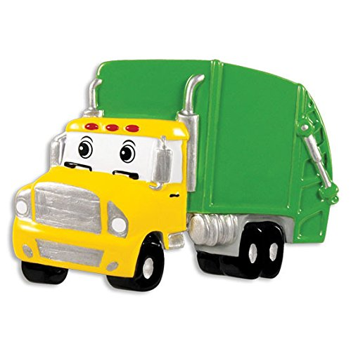 Garbage Truck Personalized Christmas Tree Ornament