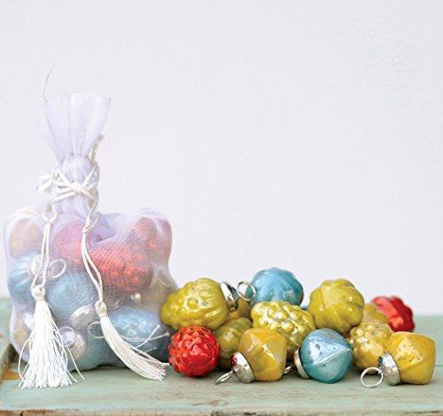 Multicolor Mercury Glass Ornaments – Bag of 36