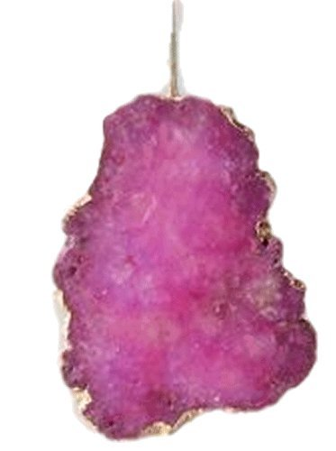 One Hundred 80 Degrees Flat Gem Crystal Ornament (Fuchsia)