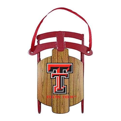 NCAA Texas Tech Red Raiders Metal Sled Ornament