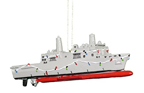Kurt Adler US Navy Ship Ornament