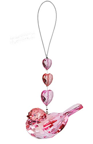 Pink Colored Body Hanging Love Bird Ornament – By Ganz