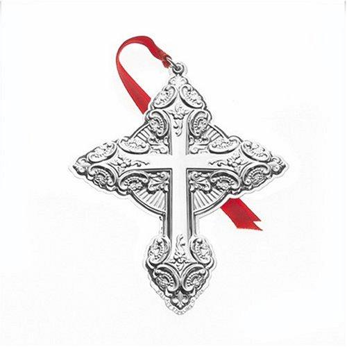 Wallace Sterling Silver Annual Ornament, 2004 9th Edition Grand Baroque Cross
