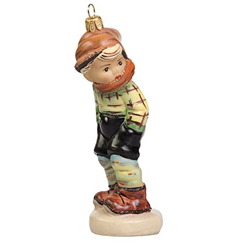 Authentic M.I. Hummel March Winds Glass Ornament