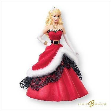 2007 Hallmark Ornament Celebration Barbie Inspired By Barbie Holiday Doll # 8 Special 2007 Edition by Hallmark