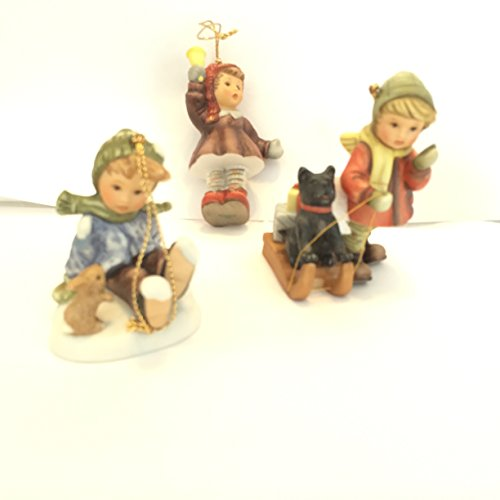 Studio Hummel Set 15 # 96049 Christmas Ornament Collection … Sled Ride for Pup, Somebunny's Playmate, Jingle, jingle, jingle