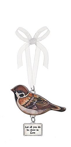 "Ganz Bird Ornament – ""Let All You Do Be Done in Love"" (Er30998)"