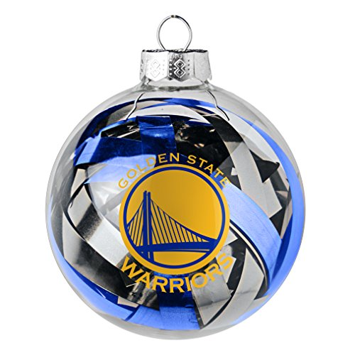 NBA Golden State Warriors Large Tinsel Ball Ornament