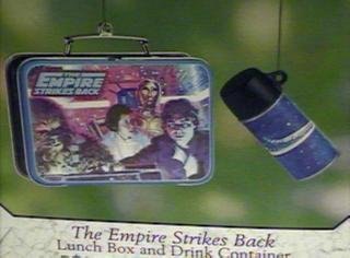 The Empire Strikes Back Lunch Box and Drink Container 2 piece set 2001 Hallmark Keepsake ornament QEO8585 by Unknown