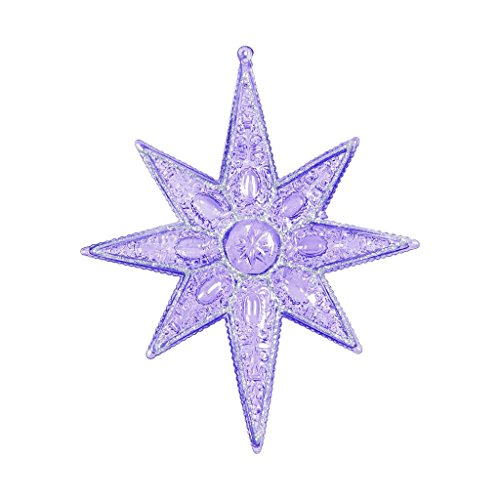 Vickerman 452035 – 7″ Purple Sculptured 8 Point Star Christmas Tree Ornament (6 pack) (ON160706)